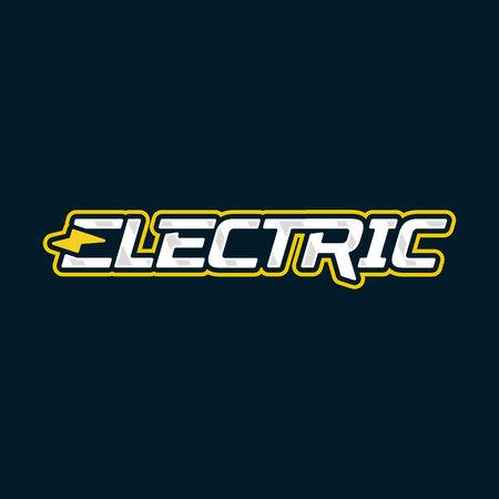 Electric logo design. Electric lightning energy logotype. Vector emblem