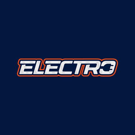 Electro logo design. Electric plug energy logotype. Vector emblem