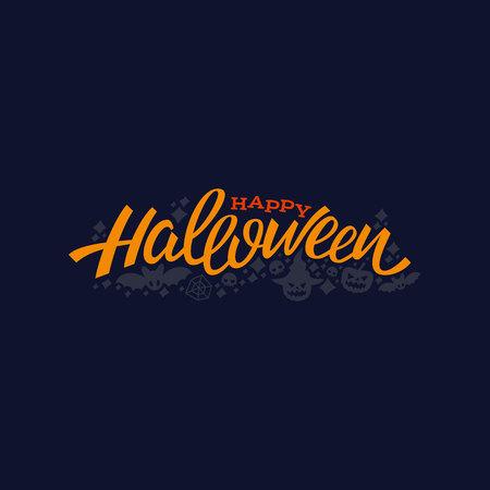 Happy halloween lettering design. Greeting vector illustration. Template