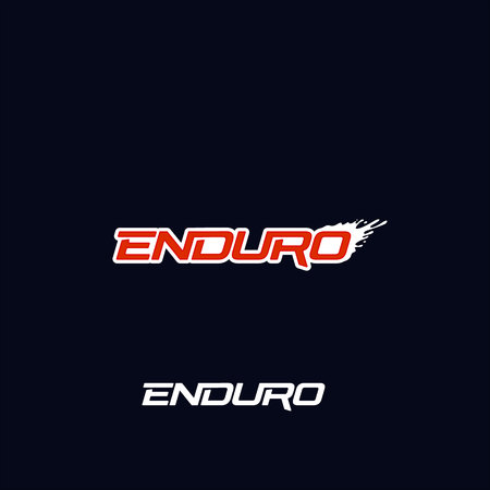 Enduro logo vector design. Dirt splash. Extreme off road motorcycle, dirt bike, motocross bike or mountain bike logotype template