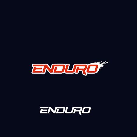 Enduro logo vector design. Dirt splash. Extreme off road motorcycle, dirt bike, motocross bike or mountain bike logotype template