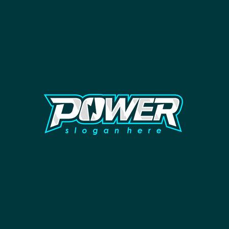 Power logo font design. Electric energy logotype. Vector emblem Illustration