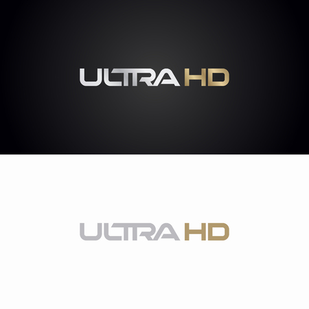 Ultra HD logo. High Definition sign logotype