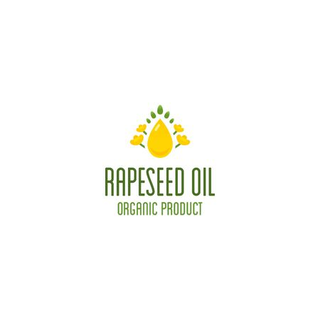 Rapeseed oil and canola oil logo. 向量圖像