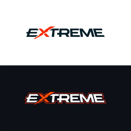 Extreme logo. Logotype with the word extreme. Vector design