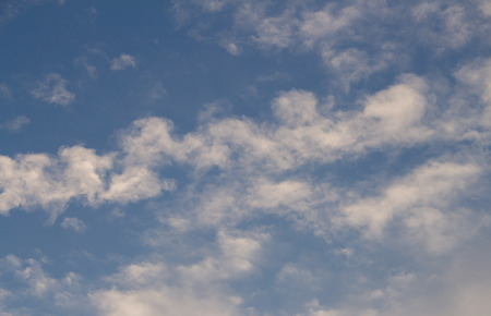 beautiful heaven: White puffy clouds on the background blue sky Stock Photo