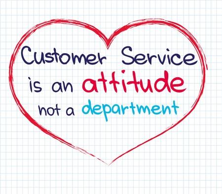 Customer service approach written in sketch words Çizim