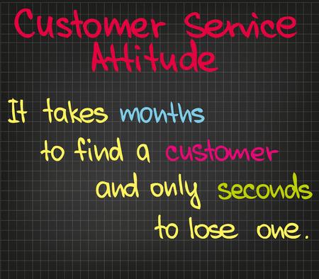 business service: Customer Serivce attitude written in sketch words