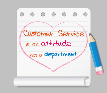 approach: Customer Service approach to successful and efficient business Illustration