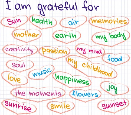 grateful: Sketched words of how to be grateful in life