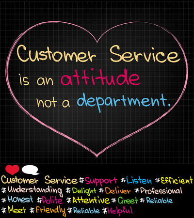 approach: Customer Service Approach pictures in social media Illustration