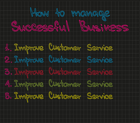 Sketch words and expressions about customer service success