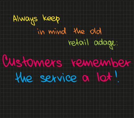 The best words about successful business with customer service