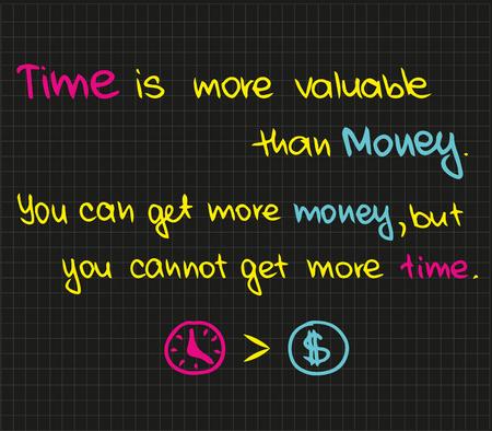 時間はお金よりも価値があります。