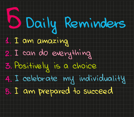 5 daily Reminders Ilustrace