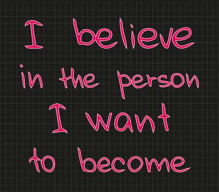 I believe in the person Illustration
