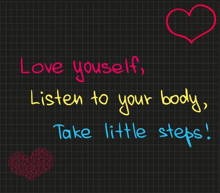 love listen to take steps yoga balance Illustration
