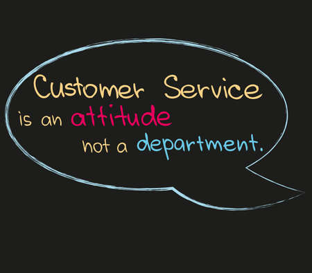 Quote about Customer Service in Vector illustration Illustration