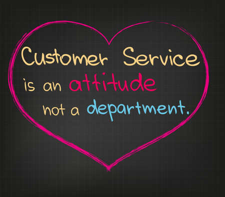 Customer Service Quote in Business Sketch Vector Illustration