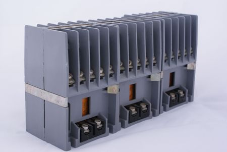 volts: Contactor electrically controlled switch Stock Photo