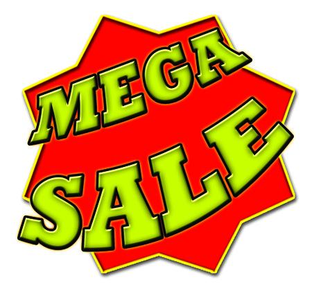 mega: Mega Sale Sign Stock Photo