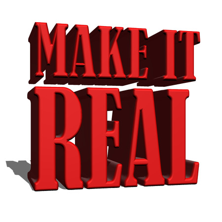 it: Make it real sign 3d