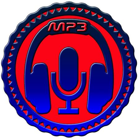 mp3: MP3 badge Stock Photo