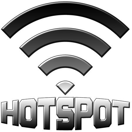 hotspot: Hotspot symbol text logo