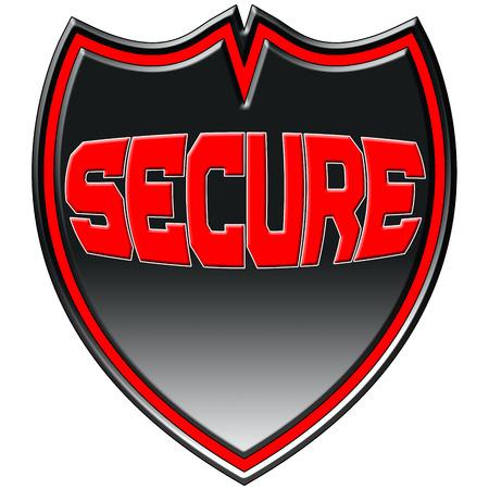secure: Secure Logo Badge