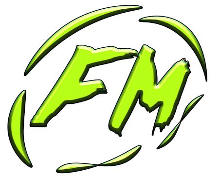 fm: FM Radio sign