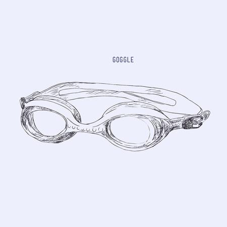 Schwimmen goggles vector.