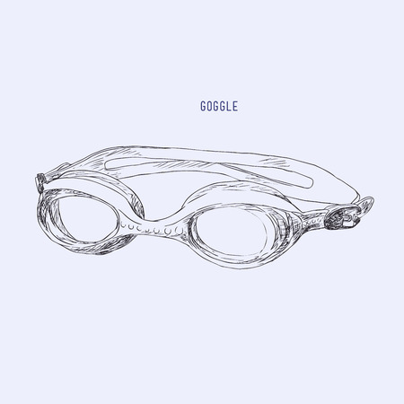 swimming Goggles vector.