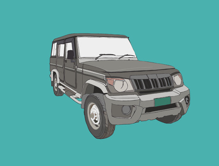 offroad car: adventure off road car ,4x4 Sports Utility Vehicle SUV. illustration vector.