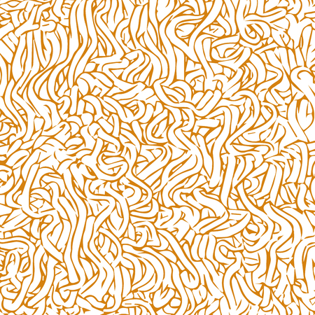 close up instant noodle texture pattern, sketch vector. Stock Illustratie