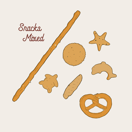 Vector hand drawn snack Illustration. Vintage style sketch  Illustration