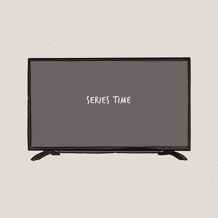 Television, vector illustration of a sketch style.
