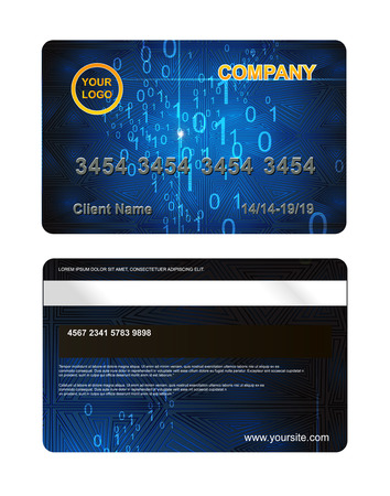 plastic card: Plastic card with digital pattern template