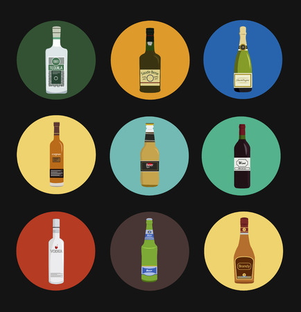 vodka: Alcohol drinks icon set