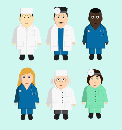 Doctors set Vector