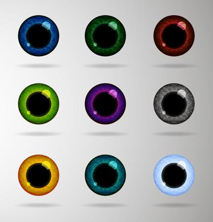 paranoia: Eye lenses icon set