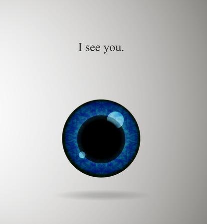 plackard: Human eye background Illustration
