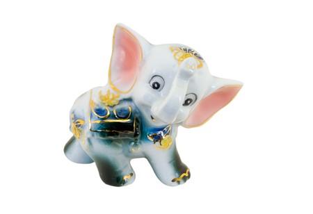 A close-up of the figurine china toy elephant photo
