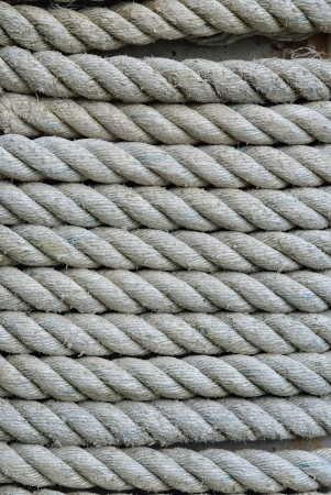 A close up of the old rope. Stock Photo - 16931087