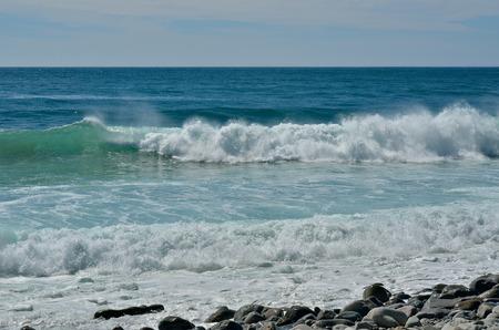 seawater: A landscape on sea: seawater, waves, surf.