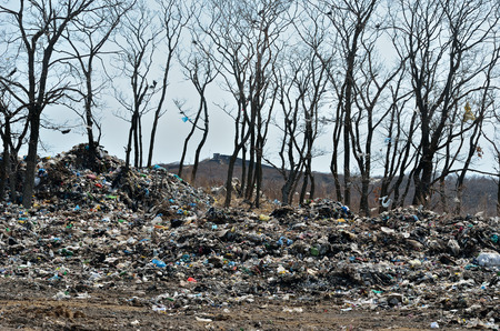 scrapheap: A landscape on scrap-heap. Stock Photo