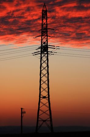 Power Pole at Morning