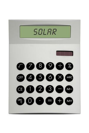 Solar Calculator Stock Photo