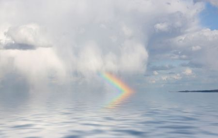Rainbow over the Ocean photo