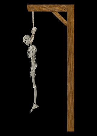 Hanging Skeleton Stock Photo