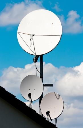 Satellite Antennas Banco de Imagens